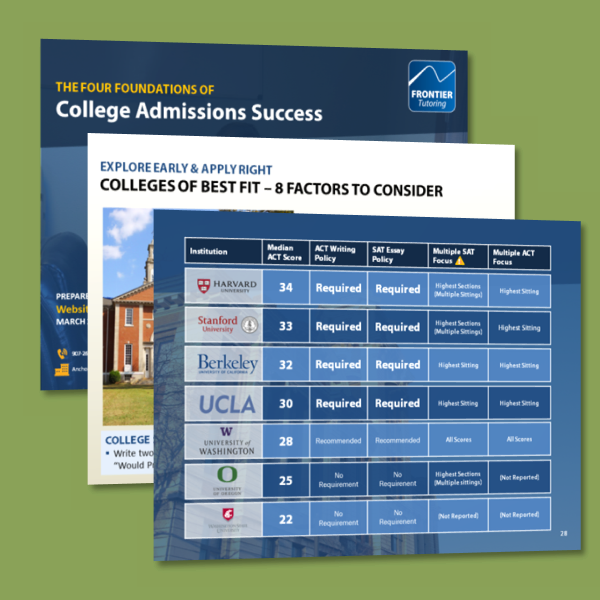 The Four Foundations of College Admissions Success