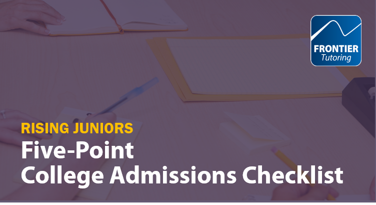 180811 Rising Juniors College Admissions Checklist Blog Graphic
