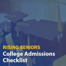 180812 Rising Seniors College Admissions Checklist Email